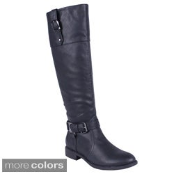 DBDK Women's Dakkeni-1 Round Toe Knee-high Riding Boots