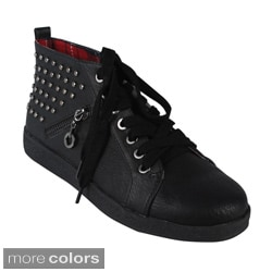 Dbdk Women's 'Canticy-1' Studded Mid-top Sneakers