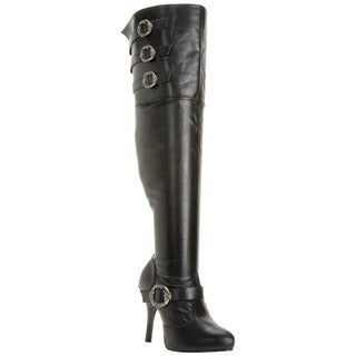 Funtasma Women's 'Diva3006X' Black Wide Shaft Thigh-high Boots