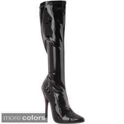 Pleaser Women's 'DOMINA-2000' Stiletto Heel Knee-high Boots