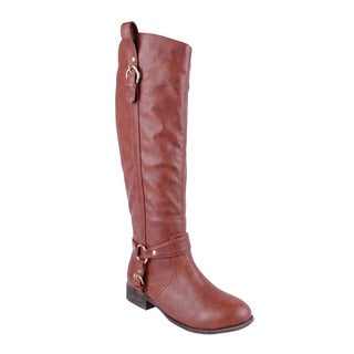 DBDK Women's 'DAKKENI-7' Round-toe Knee-high Riding Boots