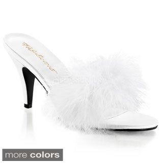Pleaser Women's 'AMOUR-03' Classic Marabou Slip-on Shoes