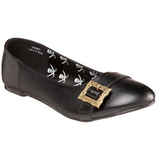 Funtasma Women's 'PIRATE' Flat Black Shoes