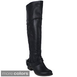 Blososm Women's 'ZOEY-4' Women's Knee-high Riding Boots