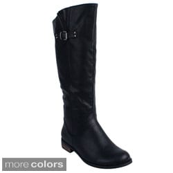 Blossom Women's 'LUCIA-2' Knee-high Riding Boots