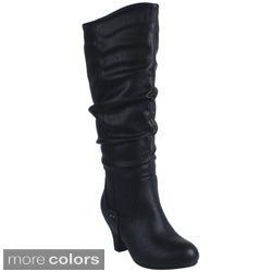 Blossom Women's 'BRAND-32W' Round-toe Knee-high Boots