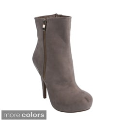 Blossom 'SHERRY-2' Women's Faux Suede Ankle Booties
