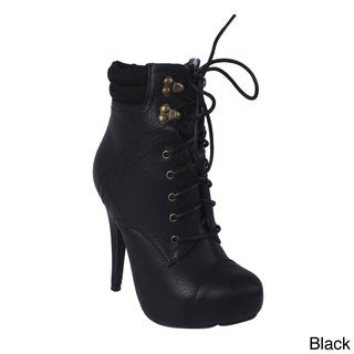 Sale alerts for  Blossom Women's 'SHERRY-1' Stiletto Lace-up Ankle Booties - Covvet