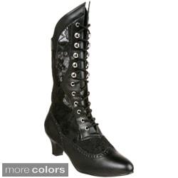 Funtasma Women's 'DAME-115' Heel Victorian Ankle Boots