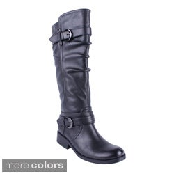 DBDK Women's 'DENNISA-2' Round-toe Knee-high Riding Boots