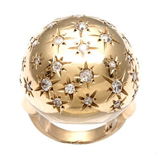 14k Gold 1ct TDW Diamond 1960's Starburst Estate Ring (I-J, SI1-SI2)