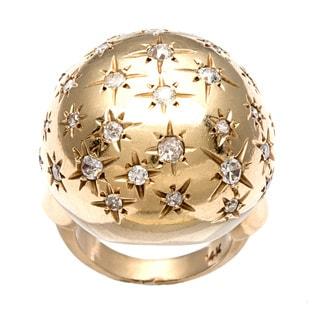 Pre-owned 14k Gold 1ct TDW Diamond 1960's Starburst Estate Ring (I-J, SI1-SI2)