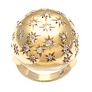 Pre-owned 14k Gold 1ct TDW Diamond 1960's Starburst Estate Ring (I-J, SI1-SI2)
