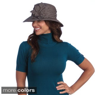 Swan Women's Year Round Denim Ribbon Polyester Packable Hat