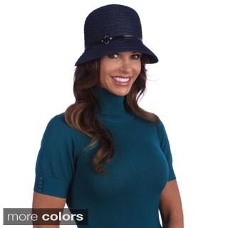 Swan Women's Year Round Navy Blue Denim Ribbon Packable Hat
