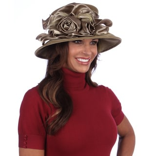 Taupe-Women's Dressy Velvet and Satin Packable Hat