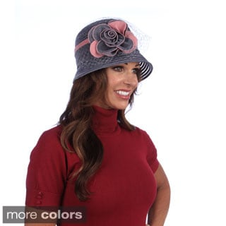 Swan Women's Two-tone Velvet Ribbon Crusher Hat