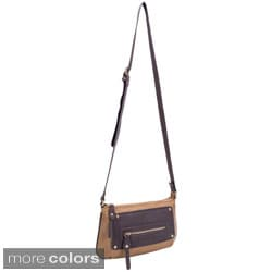 Parinda Sari Pebble Grain Embossed Faux Leather Crossbody Bag