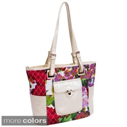 Parinda Farrah Quilted Croco Faux Leather Tote