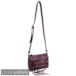 Parinda Minna Croco Embossed Faux Leather Crossbody Bag