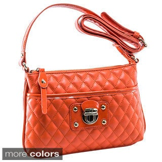 Parinda Leah Quilted Faux Leather Crossbody Bag