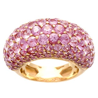 18k Rose Gold Pink Sapphire Dome Estate Ring