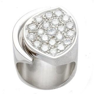 Pre-owned 18k White Gold 1 1/2ct TDW Diamond Free-form Estate Ring (H-I, VS1-VS2)