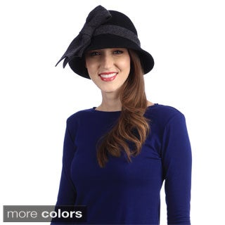 Swan Hat Women's Wool Felt Bucket Hat