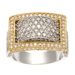 Diamonds For A Cure 18k Gold 1 7/8ct TDW Pave Square Ring (H-I, SI1-SI2)