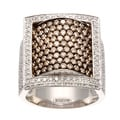 Neda Behnam DFAC 18k Gold 4ct TDW Brown and White Diamond Ring (H-I, SI1-SI2)