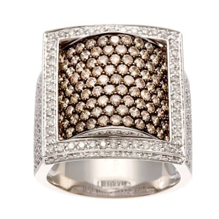 Diamonds For A Cure 18k Gold 4ct TDW Brown and White Pave Diamond Ring (H-I, SI1-SI2)