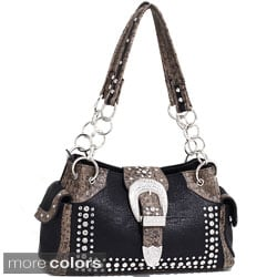Dasein Western Rhinestone Studded Shoulder Bag