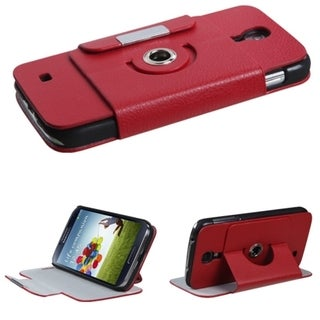BasAcc Red Premium Rotatable Wallet Case for Samsung� Galaxy S 4 I9500