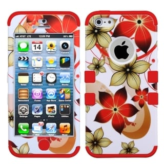 BasAcc Hibiscus Flower/ Red TUFF Hybrid Case for Apple� iPhone 5