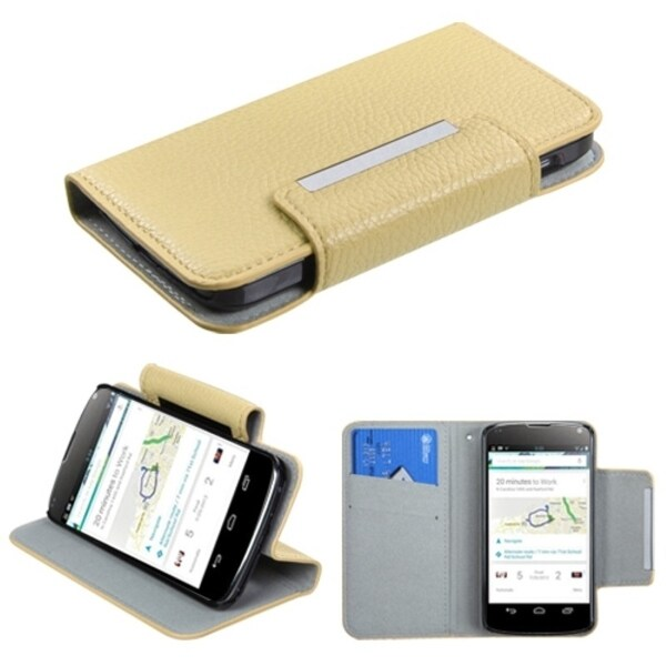 BasAcc White MyJacket Wallet Case for LG E960 Nexus 4