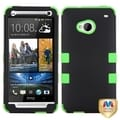BasAcc Rubberized Black/ Electric Green TUFF Case for HTC One/ M7
