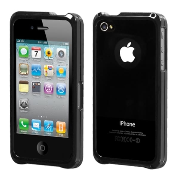 INSTEN Gun Metal Surround Shield Phone Case Cover for Apple iPhone 4S/ 4