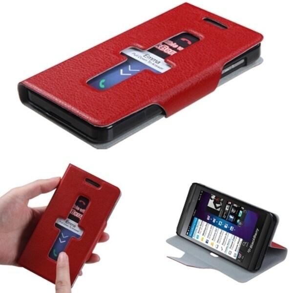 INSTEN Red Wallet Phone Case Cover for Blackberry Z10
