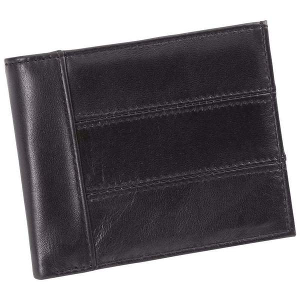 Embassy Men's Solid Genuine Leather Bi-Fold Wallet with RFID Security