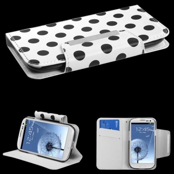 INSTEN Book-Style Wallet Phone Case Cover for Samsung Galaxy S3 i747