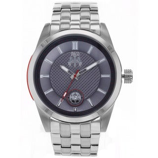 Jivago Men's 'Rush' Silver-tone Stainless Steel Watch
