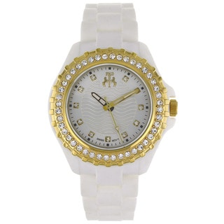 Jivago Women's Cherie White Dial and White Silicon Strap Watch