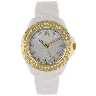 Jivago Women's Cherie White Dial and White Silicon Strap Watch