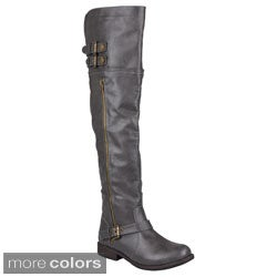 Journee Collections Womens 'Kimberley' Tall Buckle Detail Boot