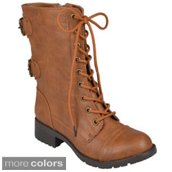 Hailey Jeans Co. Womens 'Holly' Lace-up Combat Boots