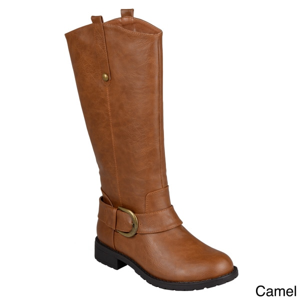 Hailey Jeans Co. Women's 'Destiny' Round Toe Mid-Calf Buckle-Strap Riding Boots
