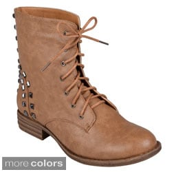 Hailey Jeans Co. Women's 'Alba' Lace-up Round Toe Boots