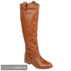 Journee Collection Women's 'Walla' Ankle-strap Knee-high Riding Boot