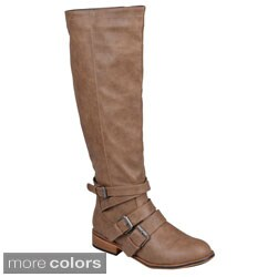 Journee Collection Womens 'Vienna' Buckle Detail Tall Boots