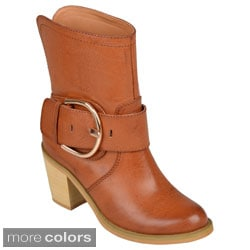 Hailey Jeans Co. Womens 'Tiahna' Buckle-Strap Heeled Ankle Boots
